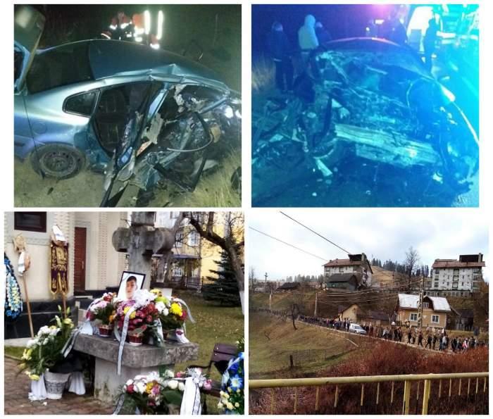 Tinerii morți în accidentul de la Câmpulung Moldovenesc au fost condusi pe ultimul drum. Imagini sfâșietoare!