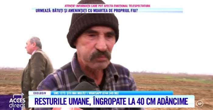 """Tractoristul care a găsit cadavrele din apropierea casei lui Dincă face afirmaţii şocante. """"Pe unul l-a scos plugul"""" /  VIDEO"""