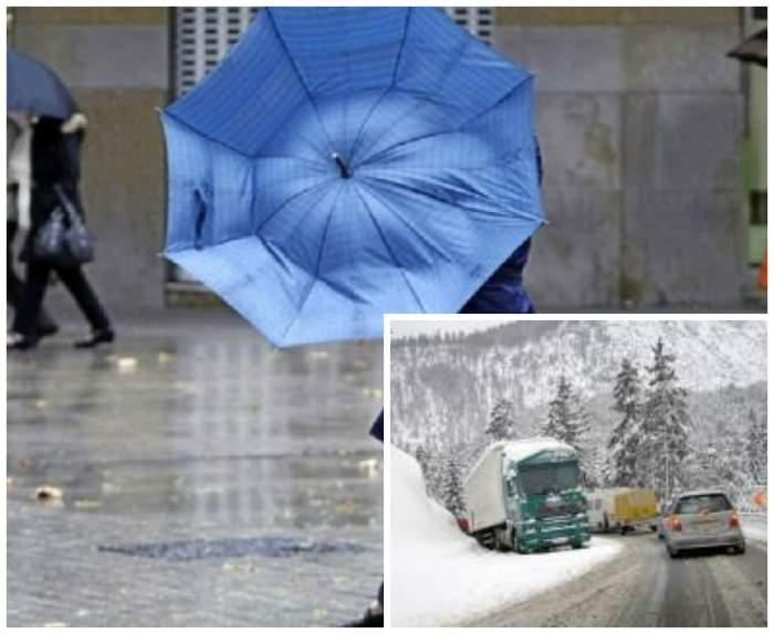 Iarna pune stăpânire pe România! E cod galben de vânt puternic. Temperaturile au scăzut dramatic
