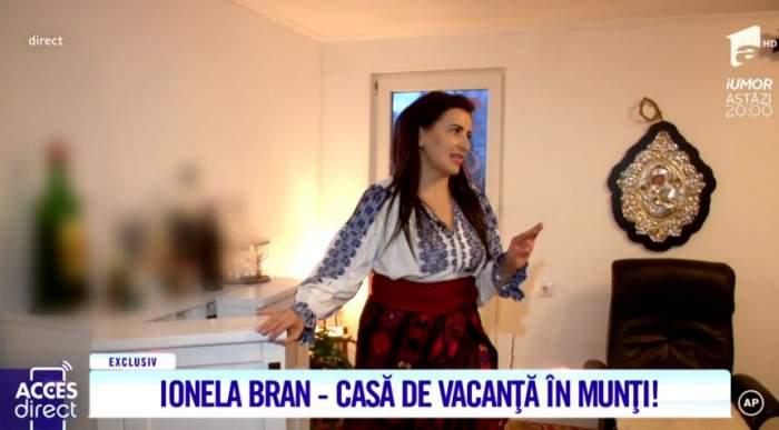 Cântăreaţa Ionela Bran trăieşte într-o vilă superbă, în vârf de munte. Cum arată locuinţa sa de poveste / VIDEO