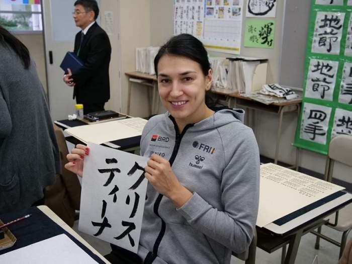 FOTO / Imagini senzaţionale din Japonia! Handbalistele din naționala României au luat lecții de caligrafie și au învățat ceremonia ceaiului