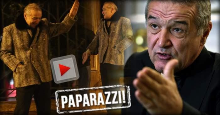 VIDEO PAPARAZZI / Imagini de senzaţie cu Gigi Becali! Cum a apărut îmbrăcat latifundiarul la ceas de seară