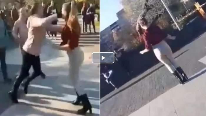 A dansat pe manele după ce a bătut o fată în parc! Colegii au filmat tot şi au pus pe internet