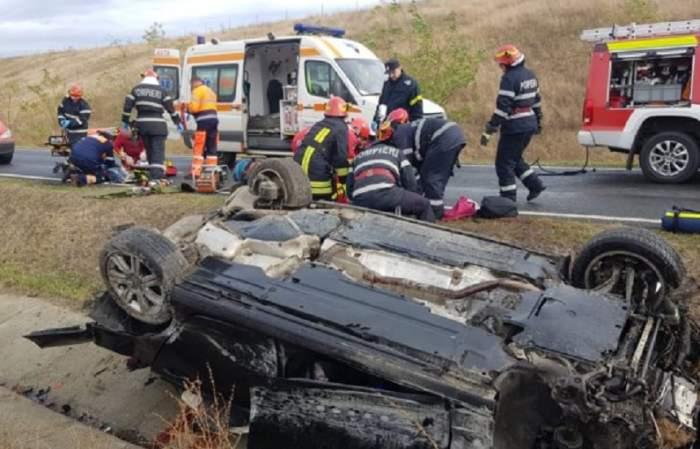 Accident mortal în Lipova! O tânără și-a pierdut viața, după ce un autoturism s-a răsturnat într-o curbă