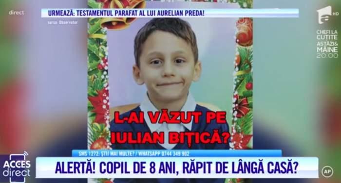 L-ai văzut? Iulian, un băiețel de doar 8 ani, a dispărut fără urmă. Părinții își strigă disperarea