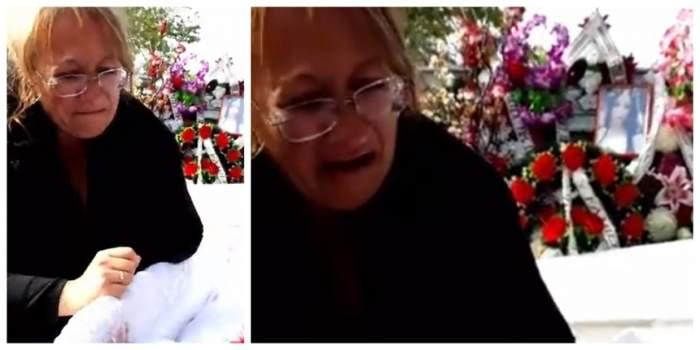 Râuri de lacrimi la înmormântarea Anei Maria, tânăra de 19 ani, moartă după ce a născut! Mama fetei nu s-a dezlipit de sicriu