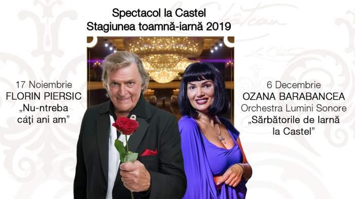 Doua spectacole extraordinare, în PREMIERĂ pentru publicul din București: Florin Piersic și Ozana Barabancea pe scena Le Chateau!
