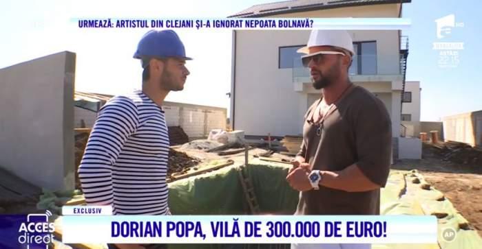 Dorian Popa îşi face vilă de 300.000 de euro. Viitorul cuibuşor de nebunii al artistului se învârte după soare / VIDEO