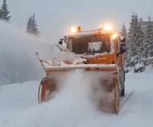 Ninge abundent în România! Imagini cu locul unde zăpada a atins și 20 de centimetri / VIDEO