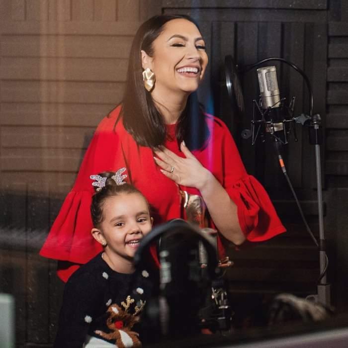 Andra şi fiica ei, piesă emoţionantă împreună. Eva are prima melodie la doar 4 ani