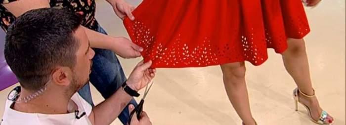 Decizie spontană luată în direct de Flick şi Popescu! I-au tăiat rochia colegei de platou