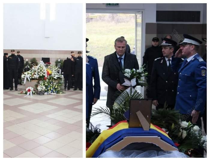 Poliţistul de 22 ani, mort în urma accidentului din Bistrița, este condus pe ultimul drum. FOTO