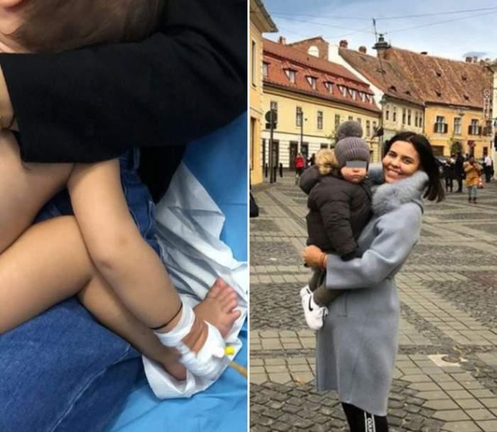 Andreea Popescu a ajuns de urgenţă cu fiul la spital. Medicii l-au pus imediat la perfuzii