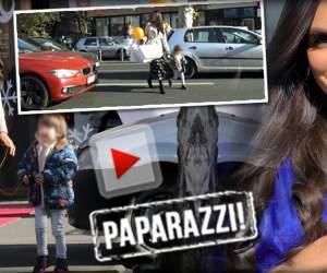Momente riscante, în trafic. Anca Serea, slalom printre maşini, cu băieţelul de mână / VIDEO PAPARAZZI