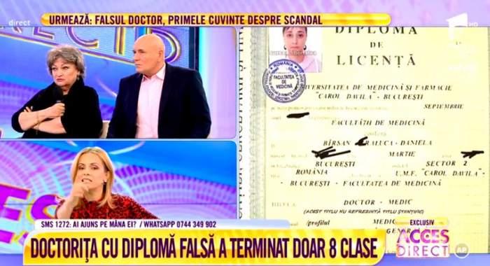 """VIDEO / Monica Pop aruncă bomba în cazul medicului fals, Raluca Bîrsan. """"Are o idilă cu un manager"""""""