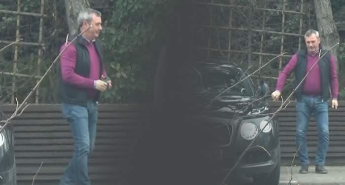 """VIDEO PAPARAZZI / Mircea Rednic e regele şoselelor! """"Puriul"""" conduce un bolid de 200.000 de euro"""