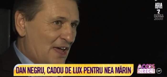 """VIDEO / Dan Negru, cadou de lux pentru Nea Mărin! A mărturisit totul în culisele show-ului """"Scena Misterelor"""""""