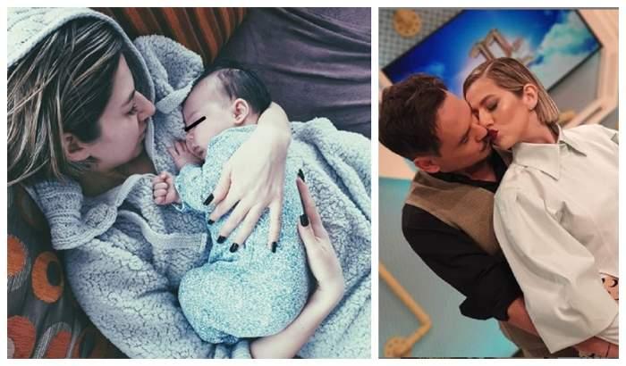 """FOTO / Imaginea care a stârnit valuri de controverse! Lidia Buble, în brațe cu un nou-născut: """"E copilul tău?"""""""