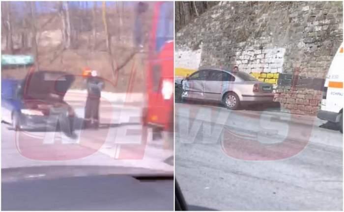 Accident grav în Prahova! Două mașini s-au ciocnit puternic la intrare în Posada