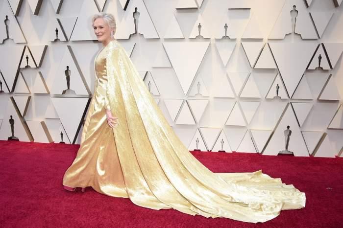 FOTO /  Look spectaculos la Oscar 2019! Glenn Close a purtat o rochie de 19 kilograme