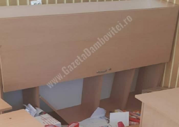 Incident foarte grav într-o şcoală din Dâmboviţa! Un dulap a căzut peste o fetiţă de 10 ani