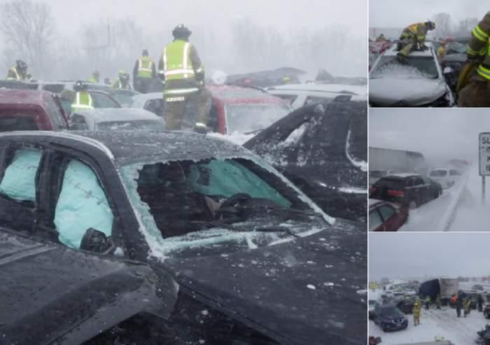 VIDEO / Accident în lanţ pe autostradă! 131 de maşini s-au făcut praf, o persoană a murit şi alte 71 sunt rănite