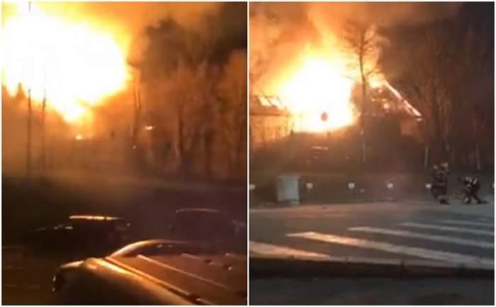 VIDEO / Incendiu de proporții la o grădiniță din Cluj! Pompierii intervin de urgență