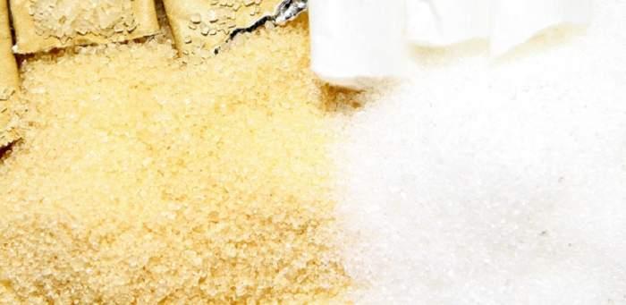 ÎNTREBAREA ZILEI: Care este diferența dintre zahărul brun și zahărul alb?