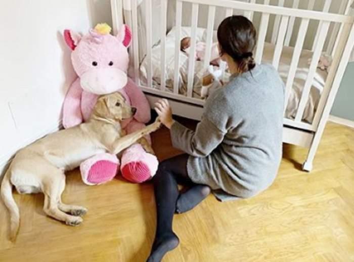 FOTO / Catrinel Menghia, primele imagini cu micuța Caroline