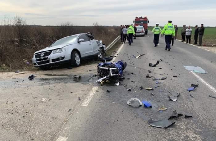 Accident grav în Timişoara! Un motociclist a murit pe loc în urma impactului