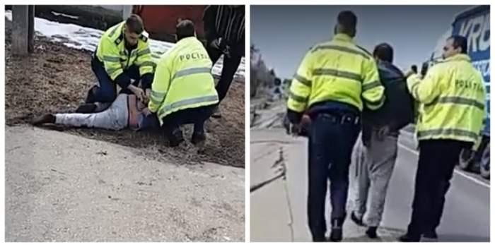 Poliţişti din Dolj, cercetaţi disciplinar după ce au oprit un bărbat să îşi mai bată nevasta. VIDEO