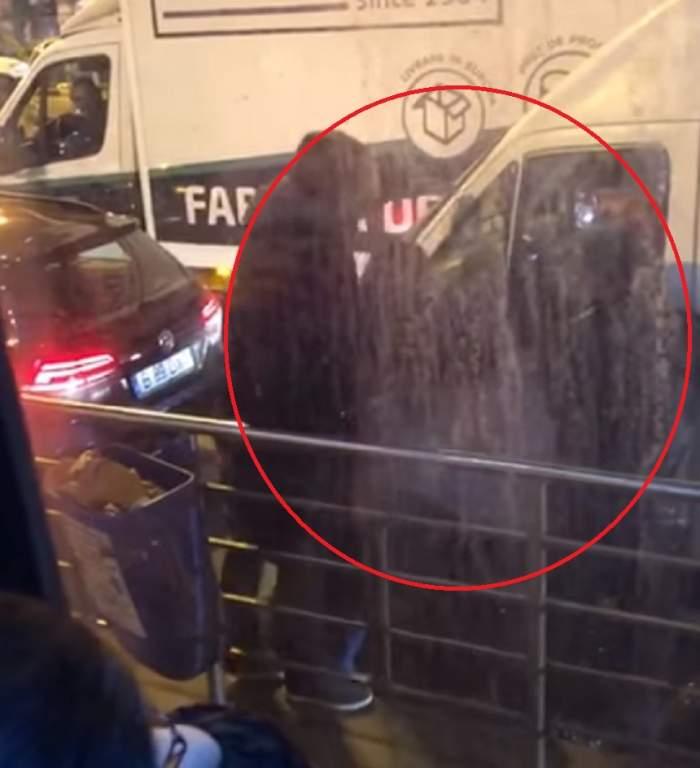 Incident șocant în centrul Bucureștiului! Șofer, scos din mașină și amenințat cu pistolul