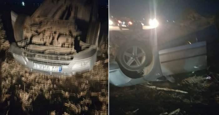 Accident grav în Suceava! S-a răsturnat din cauza vitezei