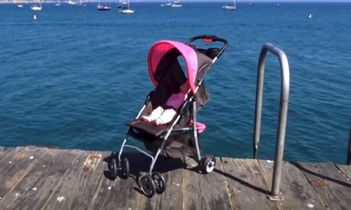 Copil de 3 ani, aruncat de vânt cu tot cu cărucior în mare. Ce s-a întâmplat cu micuțul