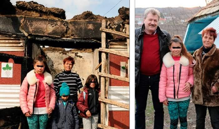 O familie cu cinci copii din Vaslui, rămasă sub cerul liber, a primit în dar o altă locuinţă, la doar 5 ore de la incendiu