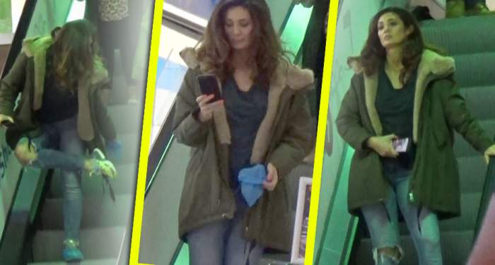 """VIDEO PAPARAZZI / Claudia Pavel a confundat mall-ul cu muzeul! Ţinuta cu care vedeta l-ar face invidios pe """"Motanul încălţat"""""""