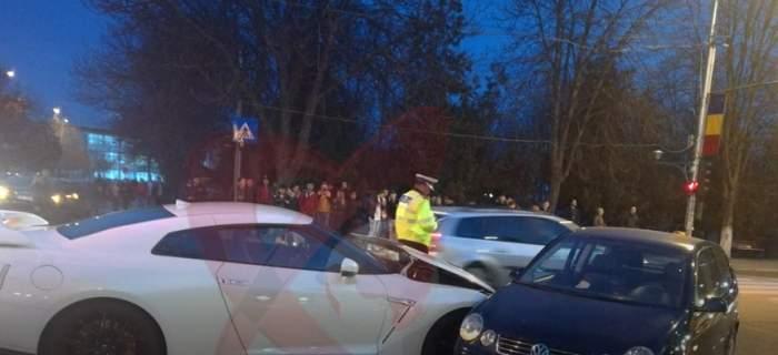 Accident uimitor în Moldova! Bolidul de lux avariat valora incredibila sumă de 82.000 de euro / VIDEO