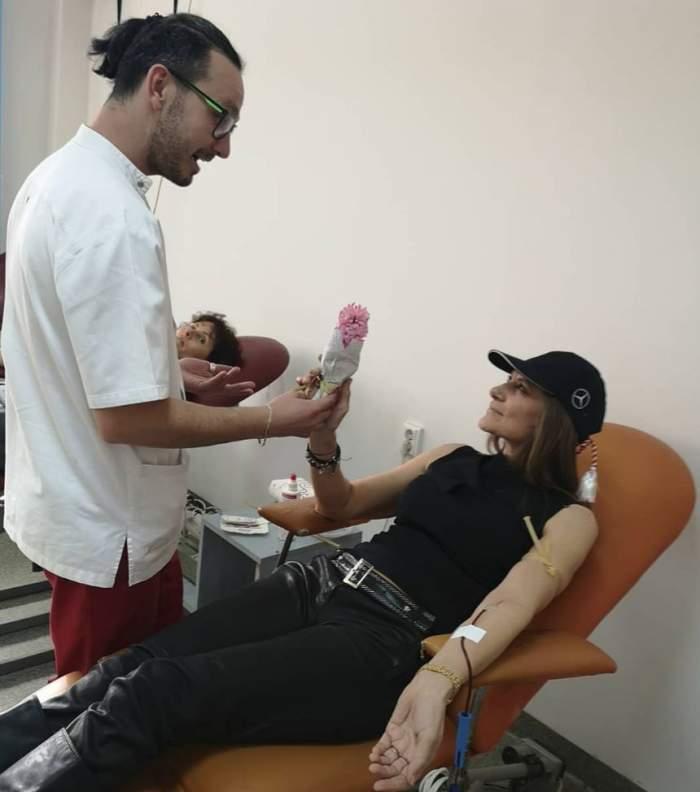 Romaniţa Iovan a oferit un mărţişor special de 1 Martie. A donat sânge