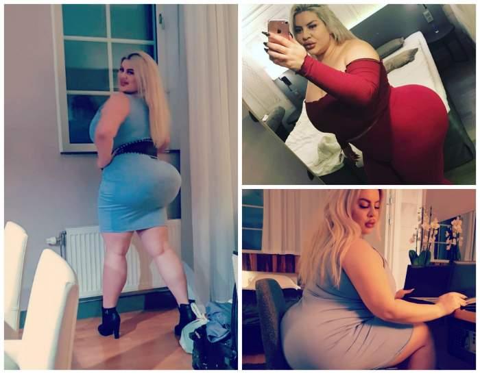 """Femeia cu fundul de 1 metru vrea să se îngrașe pentru a avea cel mai mare posterior: """"Iubesc sentimentul"""""""