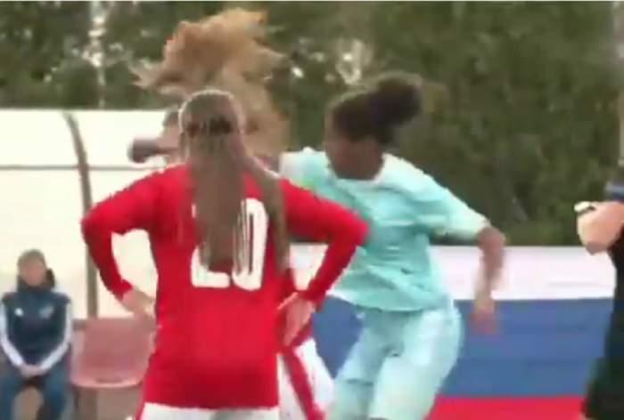 VIDEO / Bătaie ca în filme între fotbaliste minore!  Violențele au avut loc în timpul unui  meci internațional
