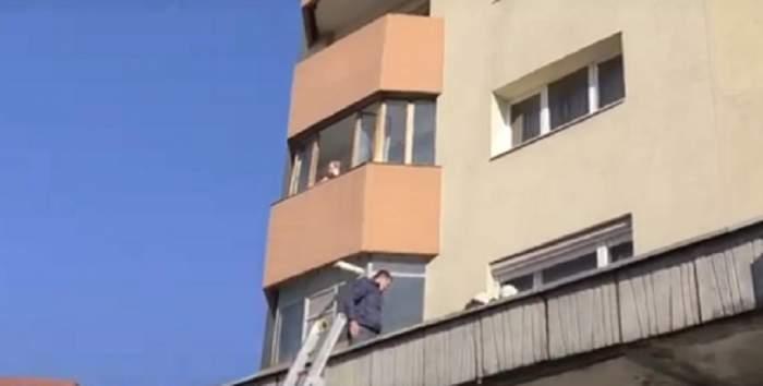 O femeie de 90 de ani s-a aruncat de la etajul 7 al unui imobil din Cluj! VIDEO