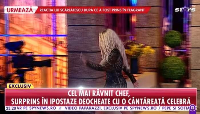 Maria Andria, reacție uluitoare după ce a fost prinsă sărutându-se cu Cătălin Scărlătescu! S-a ridicat și a plecat din emisiune!