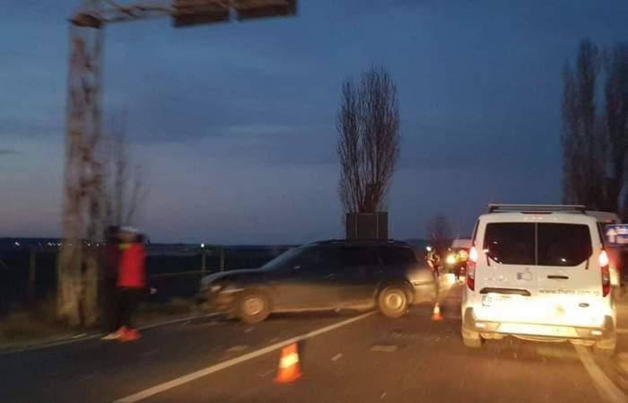Accident grav în Ploieşti! Un autobuz, un microbuz şi un autoturism s-au ciocnit