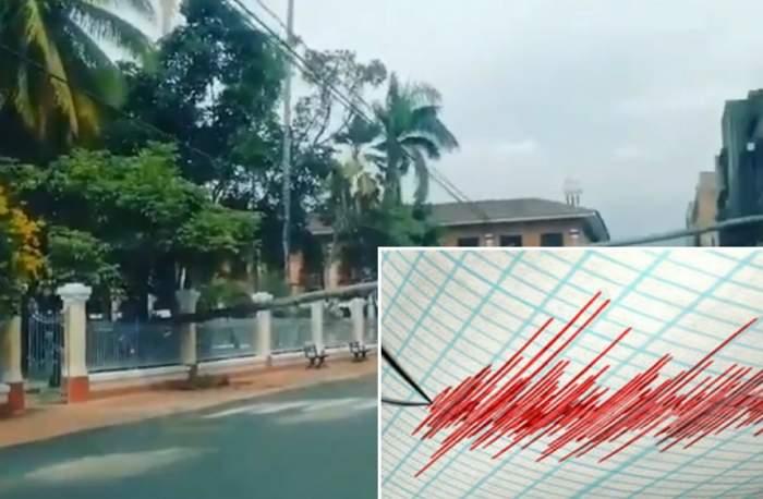 Imagini şocante pe străzile din Columbia! A fost cutremur de 6,1 grade. VIDEO