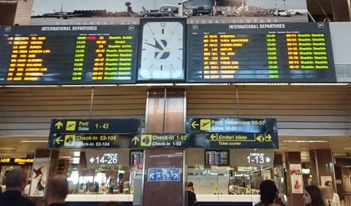 Incident şocant pe Aeroportul Otopeni! Un bărbat a început să înjure pasagerii şi să spargă totul în jur