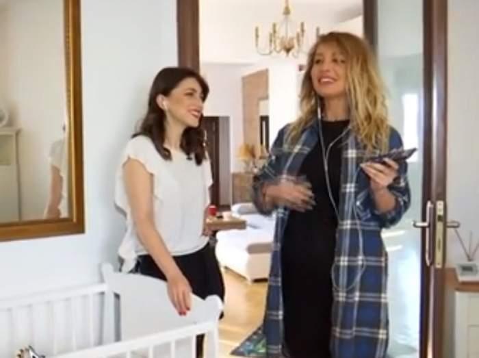 """Flavia Mihăşan a pregătit camera bebeluşului: """"Cel mai probabil va dormi între noi"""". VIDEO"""