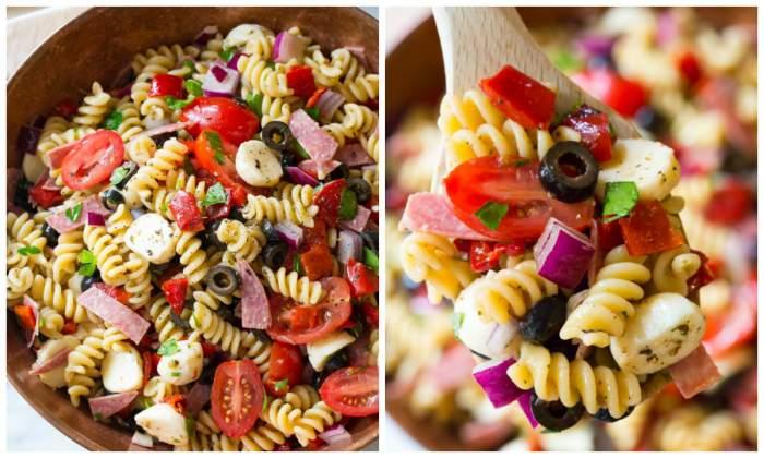REȚETE de salate: Cea mai bună salată italiană de paste