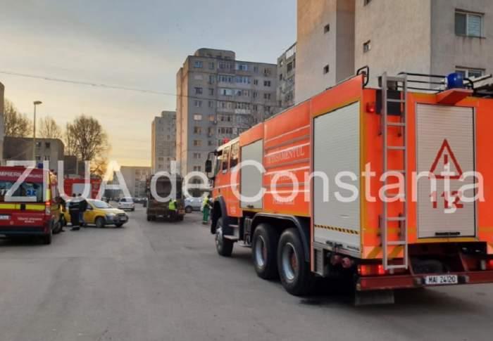 VIDEO / Explozie puternică într-un bloc din Constanța! O persoană a fost rănită