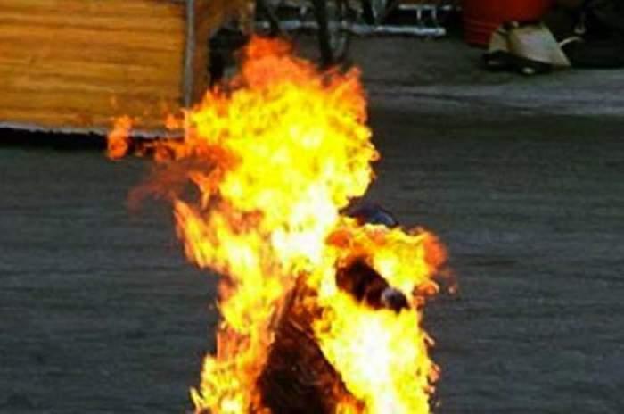 În stare de ebrietate, un bărbat din Alba a vrut să se sinucidă şi şi-a dat foc