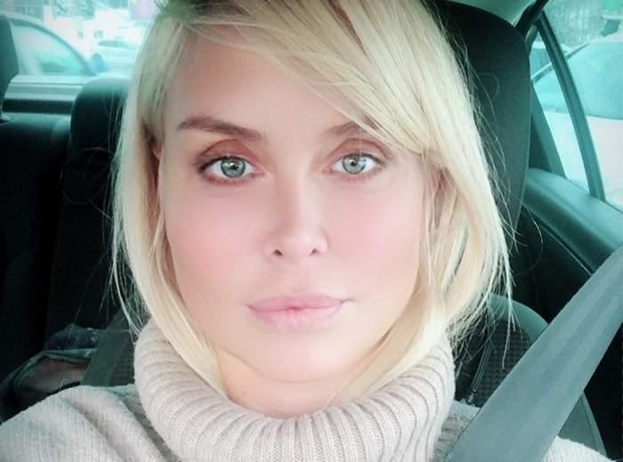 """Video halucinant. Cum o jignește iubitul, pe Vica Blochina: """"Dă-te jos..."""""""